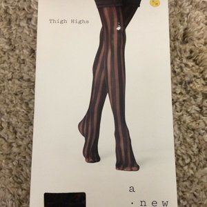 a new day Accessories - Women's Opaque Thigh High Tights A New Day Black
